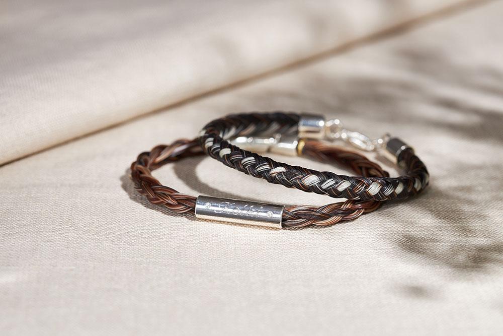 Armbänder aus Pferdehaar