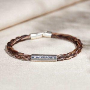 Armband aus Pferdehaar mit Gravur