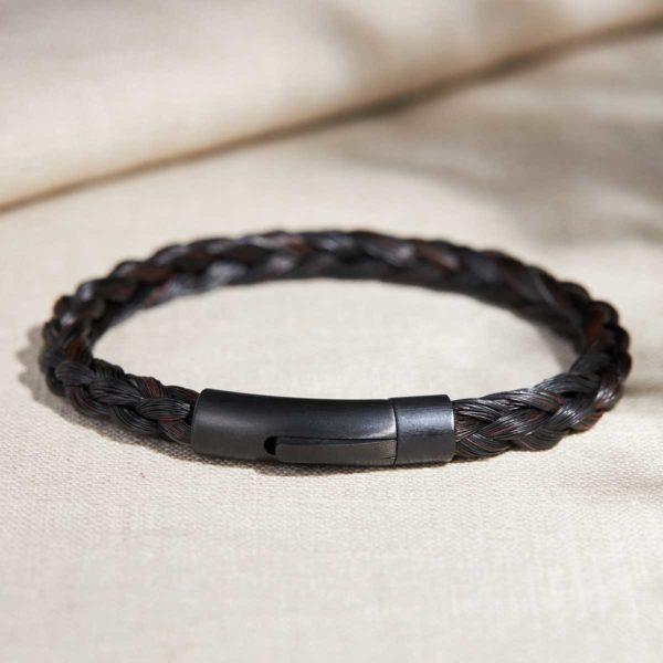 Männerarmband aus Pferdehaaren