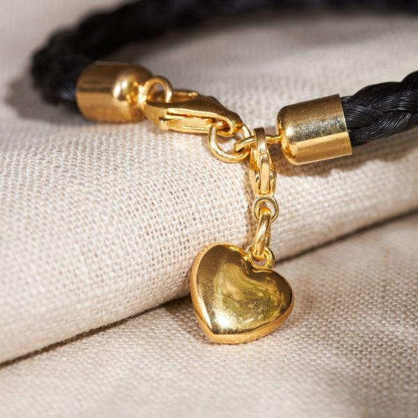 Charmanhänger Herz in Gold