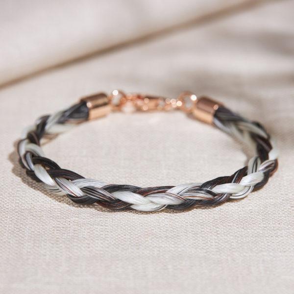 Pferdehaar-Armband Roségold
