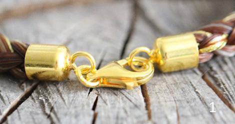 Karabiner Echtsilber, vergoldet
