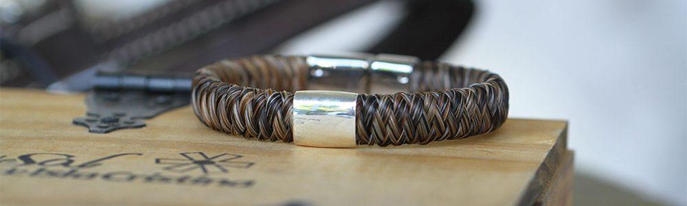Männerarmband aus Pferdehaar