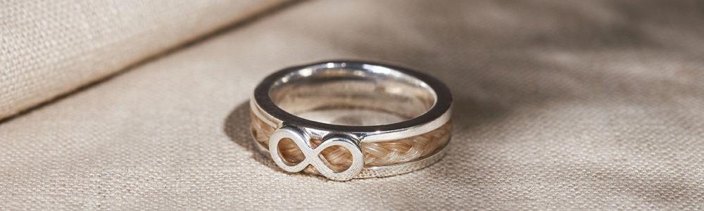 Pferdehaar Ring Infinity