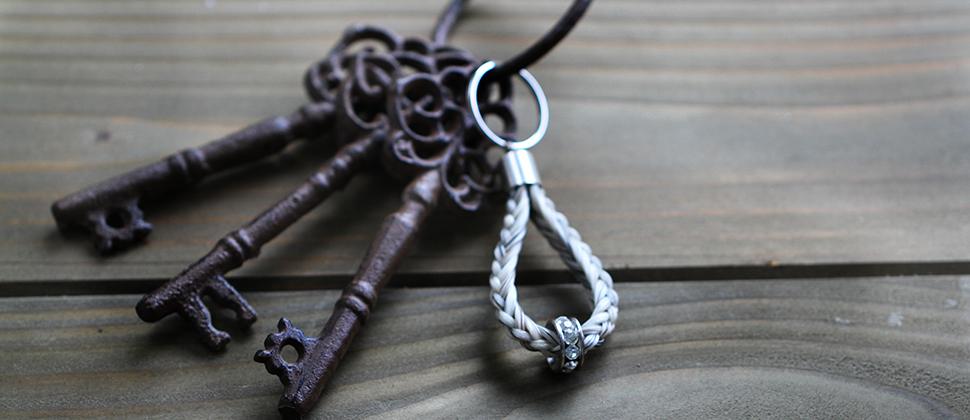 Schlüsselanhänger aus Pferdehaar