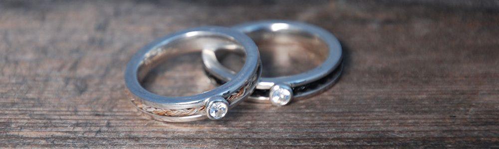 Ring mit eingefasstem Stein