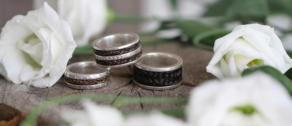 Pferdehaarschmuck Ringe