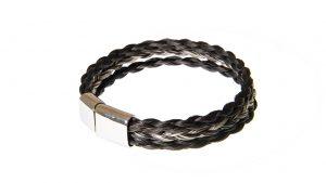 Armband aus 3 Strängen Pferdehaar